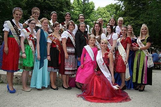 Königinnen auf den Traunsteiner Rosentagen